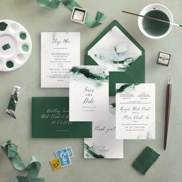 Thiệp cưới màu nước